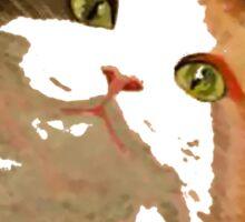 I'm All Ears - Cute Calico Cat Portrait Sticker