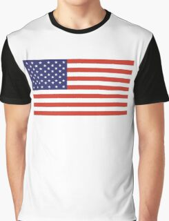 American Flag, Stars & Stripes, Pure & Simple, America, USA Graphic T-Shirt