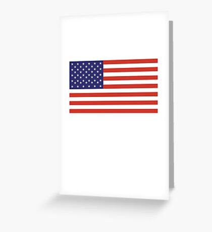 American Flag, Stars & Stripes, Pure & Simple, America, USA Greeting Card