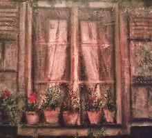 A window in Amelia, Umbria by Fannyja