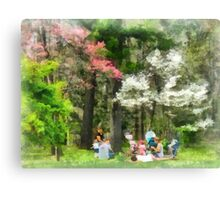 Picnic Under the Flowering Trees Canvas Print