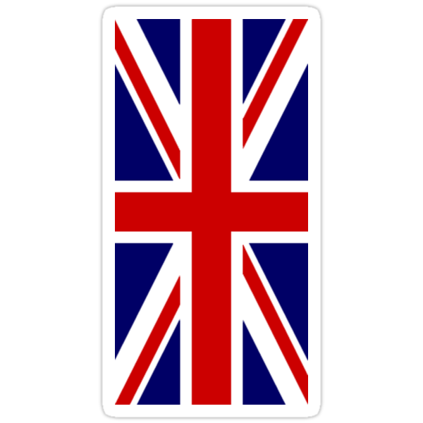 British, Union Jack Flag, 1;2, UK, GB, Blighty, United Kingdom, Portrait, Pure & simple  by TOM HILL - Designer