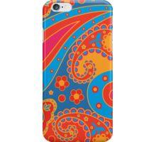 orange and blue paisley pattern iPhone Case/Skin