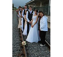 wedding party -  on the train track Photographic Print