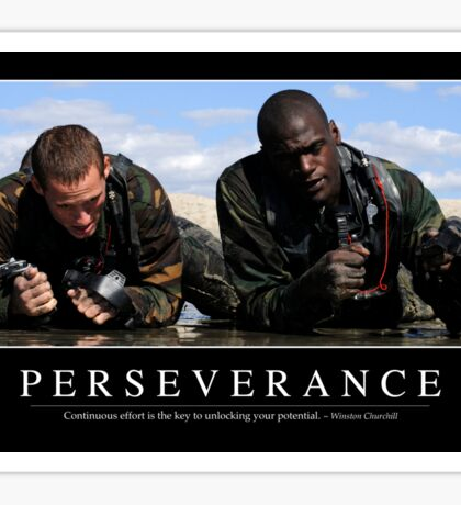 Perseverance: Inspirational Quote and Motivational Poster Sticker