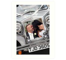 Bride & Groom Art Print