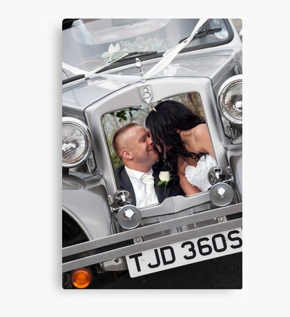 Bride & Groom Canvas Print