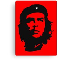 Che, Guevara, Rebel, Revolution, Marxist, Revolutionary, Cuba, Power to the people! Black on Red Canvas Print