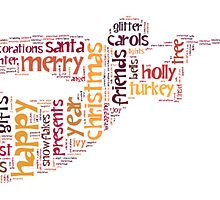 Christmas wordcloud angel by Karen Cropper