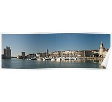 La Rochelle harbour in December Poster