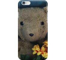 Scruffles with Sunflowers iPhone Case/Skin
