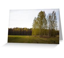 Latvian countryside Greeting Card