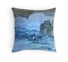 Dartmouth Castle, Devon, England Throw Pillow
