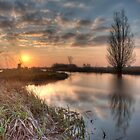 Sundown Ryptsjerker polder by Ruben Emanuel