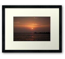 Sunrise at Engure's mols Framed Print
