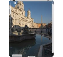 Roman Morning - Shadow and Light on Piazza Navona, Rome, Italy iPad Case/Skin