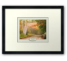 Cilly Hill Road Framed Print