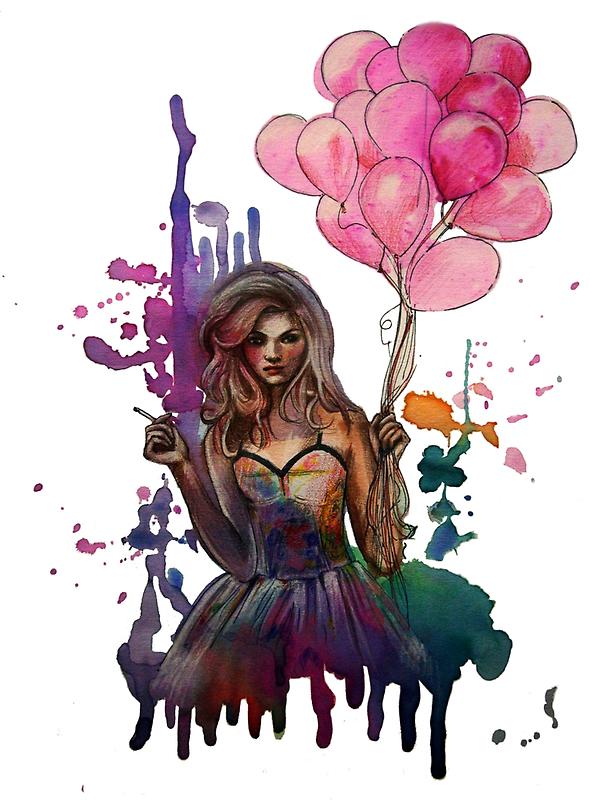 les ballons roses by OlgaNoes