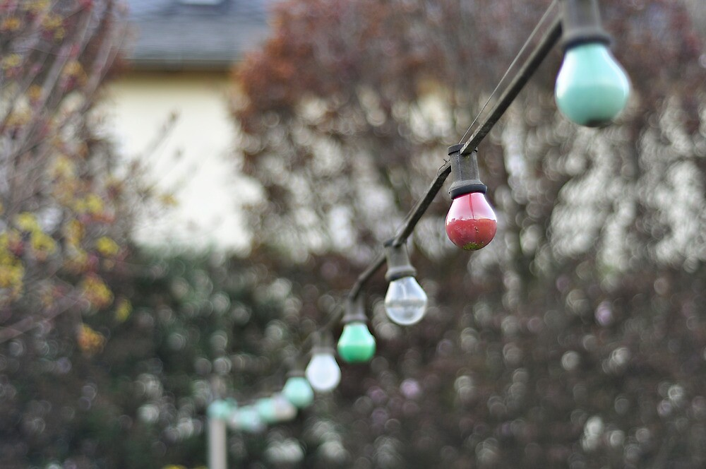 Colorful lightbulbs by Anete Bauere
