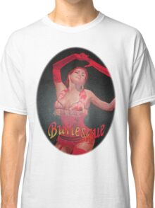 Burlesque Dancer Wearing Vintage Red Corset and Gloves Classic T-Shirt