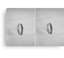 Ring with ancient Latvian signs Canvas Print