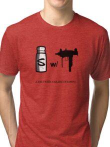 A salt with a deadly weapon Tri-blend T-Shirt