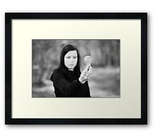 Is this where ideas come from? Framed Print