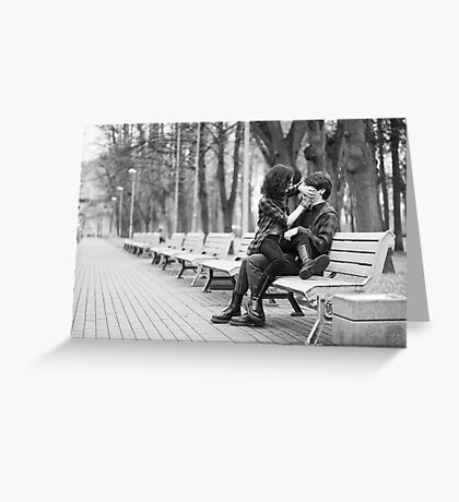 Couple in park Greeting Card