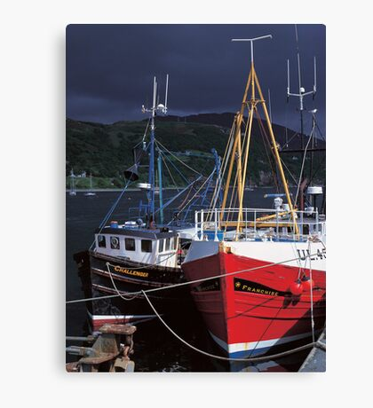 Ullapool harbour Canvas Print