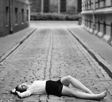 Laying on the ground by Anete Bauere