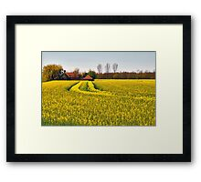 Cottage in the polder Framed Print