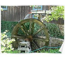 Water Power - Mill Water Wheel, Homestead, Tx. Poster