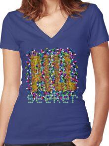 Pill Seeker Women's Fitted V-Neck T-Shirt