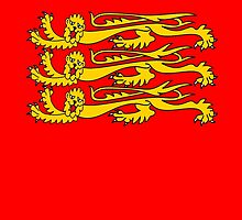 Royal Banner of England, England, Three Lions, 3 Lions, English, British, Britain, UK, RED by TOM HILL - Designer
