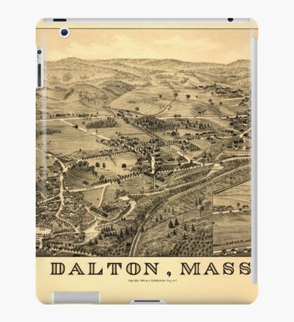 Panoramic Maps Dalton Mass iPad Case/Skin