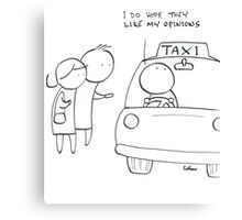Considerate taxi driver Canvas Print
