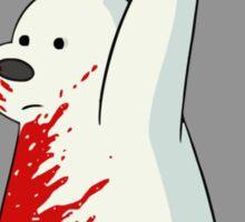 guns don't kill people - blood Sticker