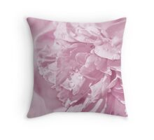 Peony In Pastel Pink Throw Pillow