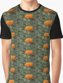 Floating Autumn - Chrysanthemum Blossom in the Fountain Graphic T-Shirt