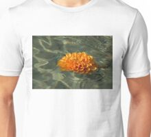 Floating Autumn - Chrysanthemum Blossom in the Fountain Unisex T-Shirt