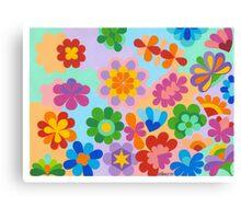 FLOWER FIGUREN - AQUAREL Canvas Print