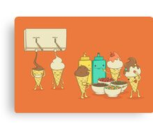 Ice Cream Hair Fun Canvas Print