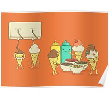 Ice Cream Hair Fun Poster