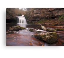 West Burton falls - Yorkshire Dales Canvas Print