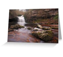 West Burton falls - Yorkshire Dales Greeting Card