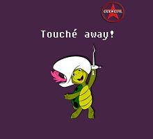 "GeekGirl - ""Touché away!"" Womens Fitted T-Shirt"