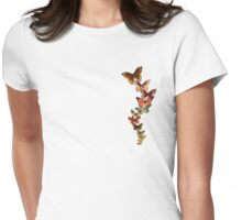 Vintage butterflies Womens Fitted T-Shirt
