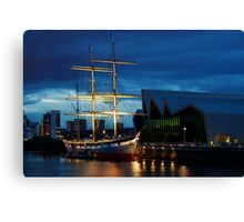 The Glenlee at Night Canvas Print