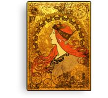 Steampunk Zodiac (Mucha Homage) Canvas Print