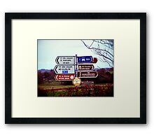 Which Way Do I Go? Framed Print